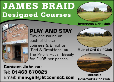 Muir of Ord, Inverness & Fortrose Golf Club Stay and Play Package