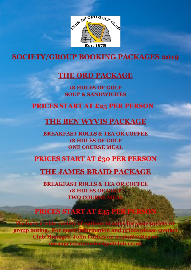 Group & Society Packages 2019