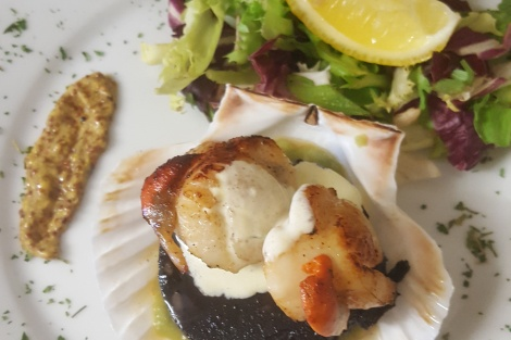 Muir of Ord Golf Club Catering Menu -scallops