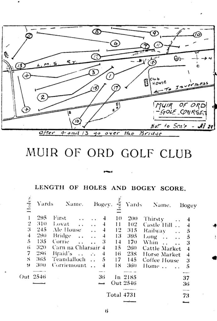 Muir of Ord 1933 Handbook