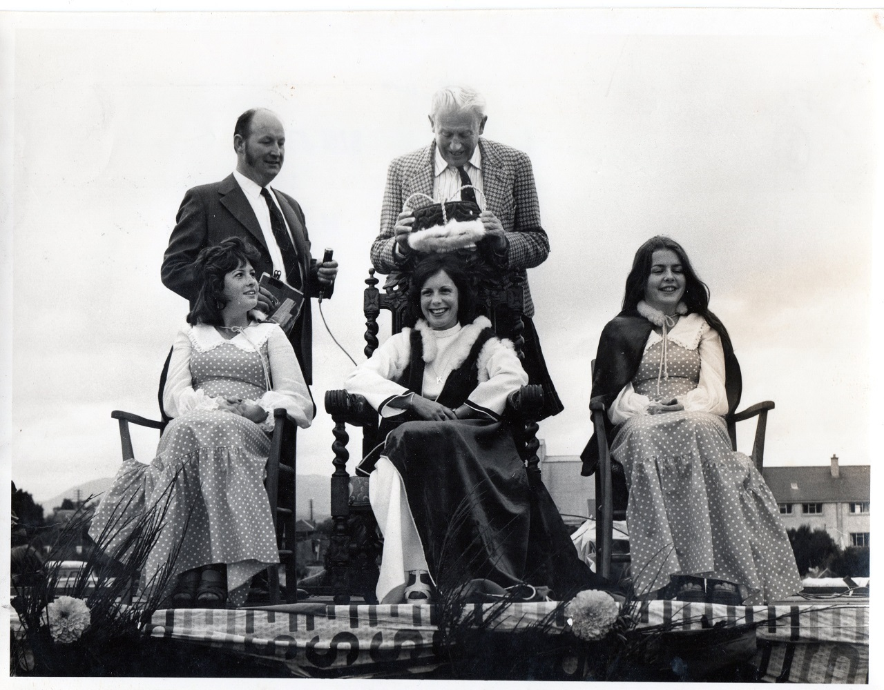 Lord Lovat with the newly crowned Golf Queen 1975