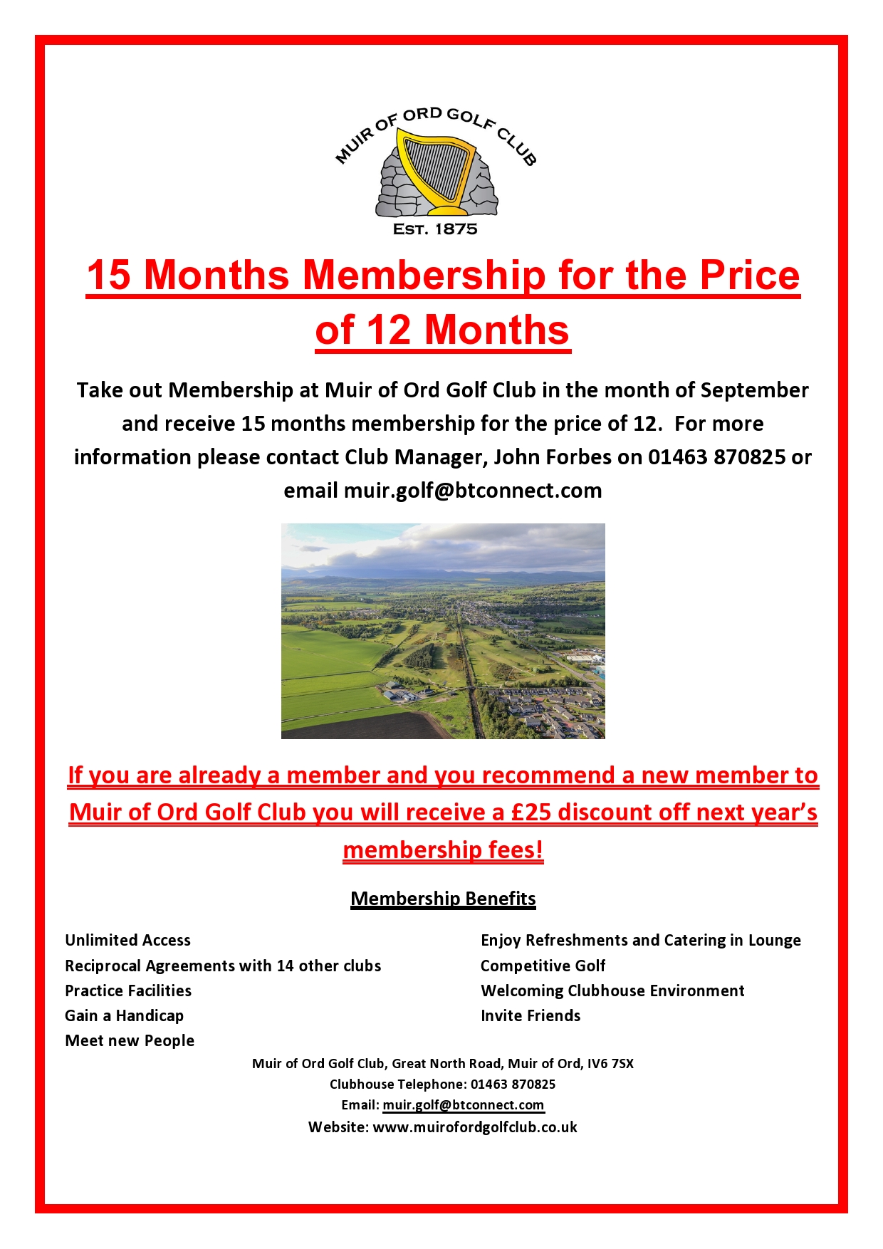 15 Months Membership for 12 Months Offer