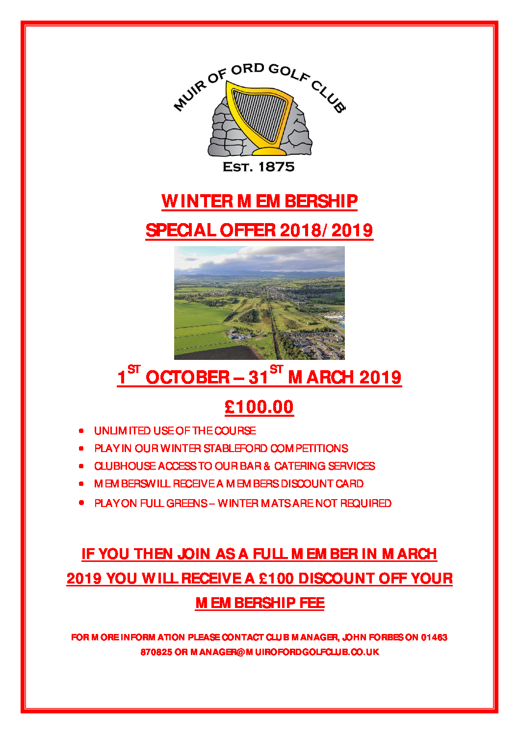 Winter Membership 2018