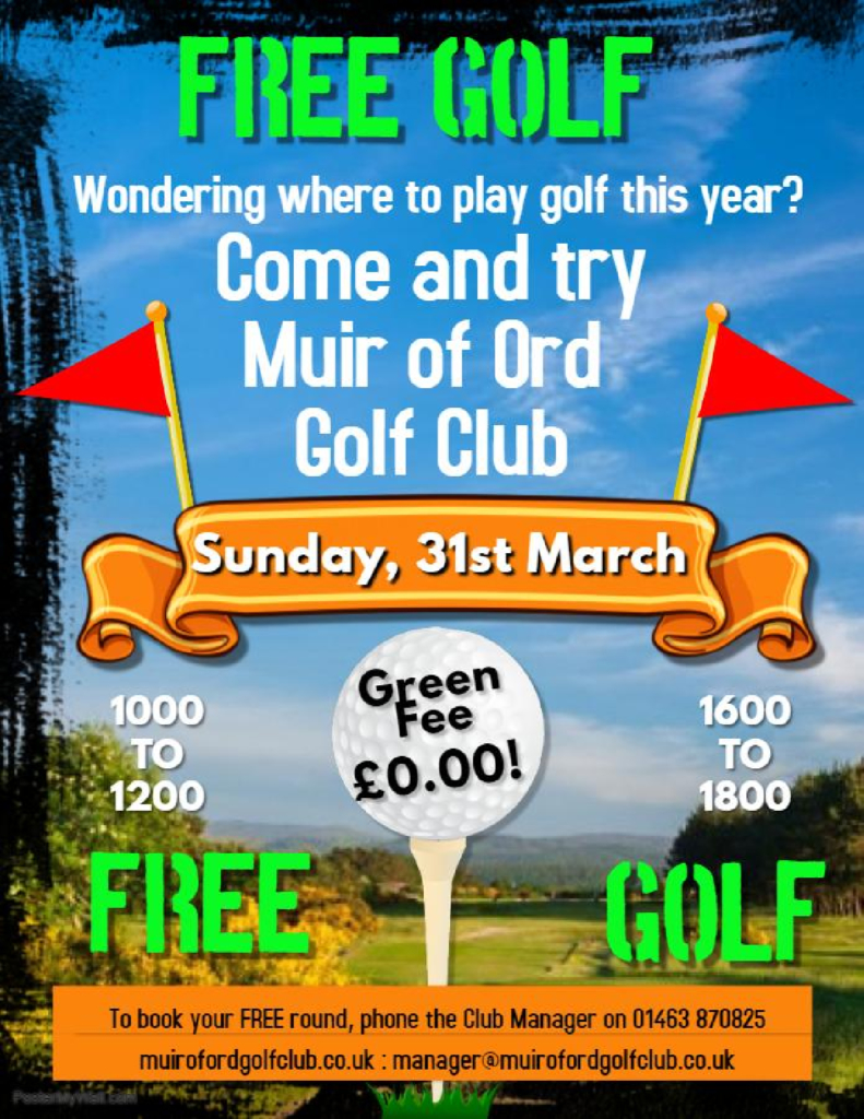 Come and Try Muir of Ord Golf Club day