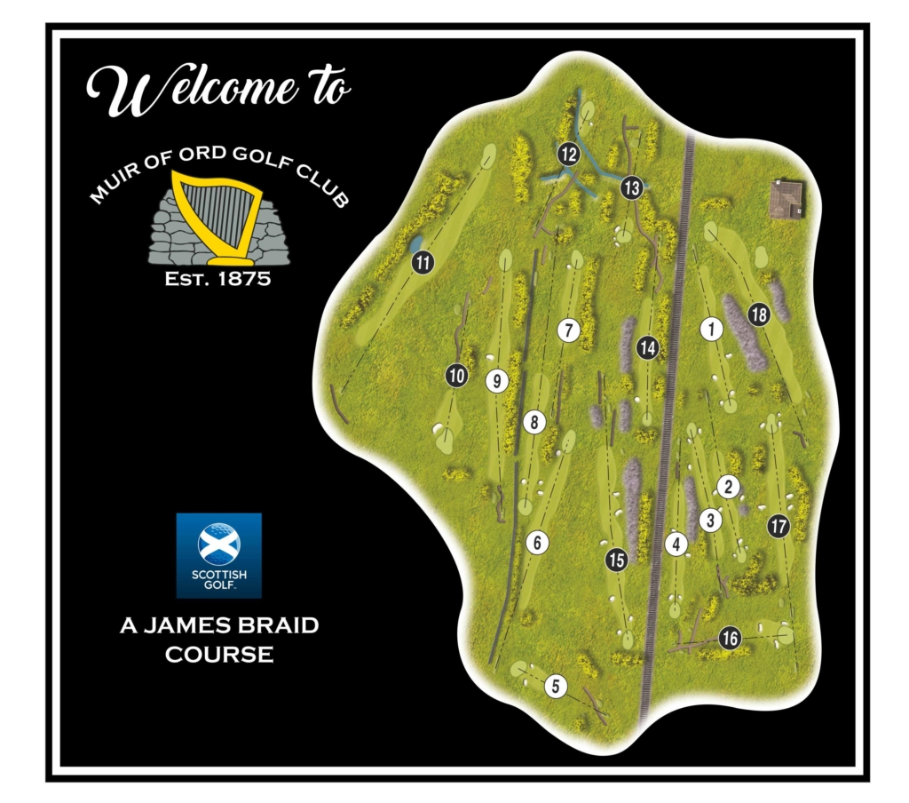 Course map overview Muir of Ord Golf Club