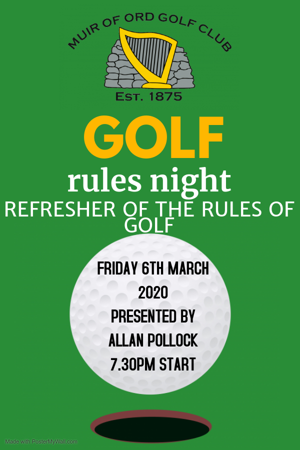 Golf Rules Night